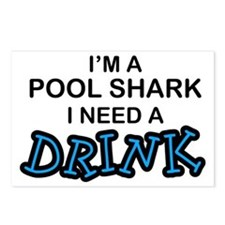 Pool Shark Need a Drink Postcards (Package of 8)