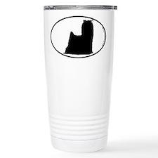 Yorkie SILHOUETTE Travel Mug