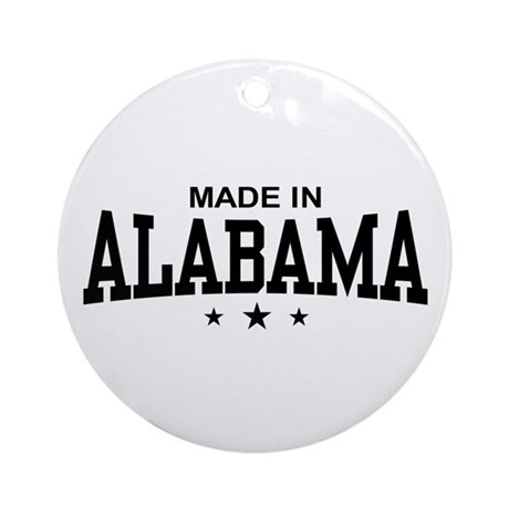 Made In Alabama Ornament (Round)