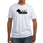 Black Cane Corso Fitted T-Shirt