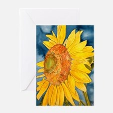 sunflower flower watercolor p Greeting Card