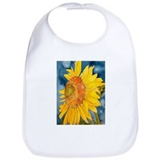 sunflower flower watercolor p Bib