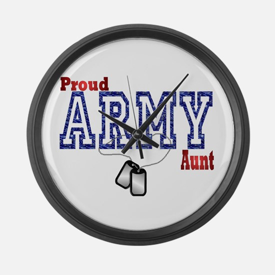 army aunt Large Wall Clock