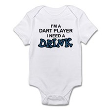 Dart Player Need a Drink Infant Bodysuit