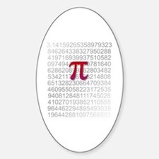 Delicious Pi Oval Decal