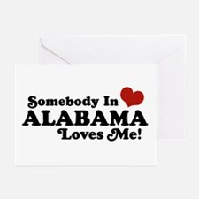 Somebody in Alabama Loves Me Greeting Cards (Pk of