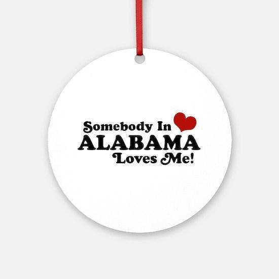 Somebody in Alabama Loves Me Ornament (Round)