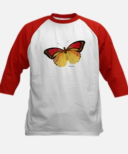 Red Yellow Butterfly (Front) Kids Baseball Jersey