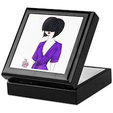 Lady in the Purple Robe Keepsake Box