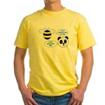 Bee & Panda Attitude/Humor Yellow T-Shirt