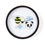 Bee & Panda Attitude/Humor Wall Clock