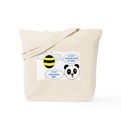 Bee & Panda Attitude/Humor Tote Bag