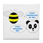 Bee & Panda Attitude/Humor Tile Coaster
