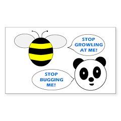 Bee & Panda Attitude/Humor Rectangle Sticker 10 p