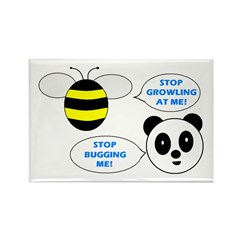 Bee & Panda Attitude/Humor Rectangle Magnet (10 pa