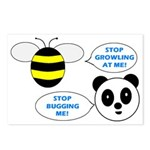 Bee & Panda Attitude/Humor Postcards (Package of 8