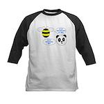 Bee & Panda Attitude/Humor Kids Baseball Jersey
