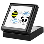 Bee & Panda Attitude/Humor Keepsake Box