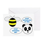 Bee & Panda Attitude/Humor Greeting Cards (Pk of 1