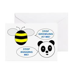 Bee & Panda Attitude/Humor Greeting Cards (Pk of 1