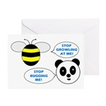 Bee & Panda Attitude/Humor Greeting Card
