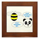 Bee & Panda Attitude/Humor Framed Tile