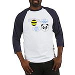 Bee & Panda Attitude/Humor Baseball Jersey