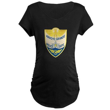 Arroyo Grande Police Maternity Dark T-Shirt