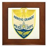 Arroyo Grande Police Framed Tile