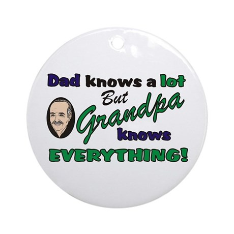 Grandpa Knows Everything Keepsake (Round)