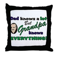Grandpa Knows Everything Throw Pillow
