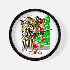 A Very Yorkie Christmas! Wall Clock