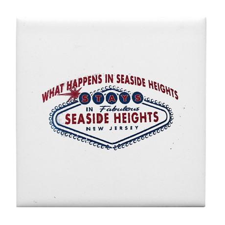 Seaside Heights NJ Tile Coaster