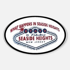 Seaside Heights NJ Oval Decal