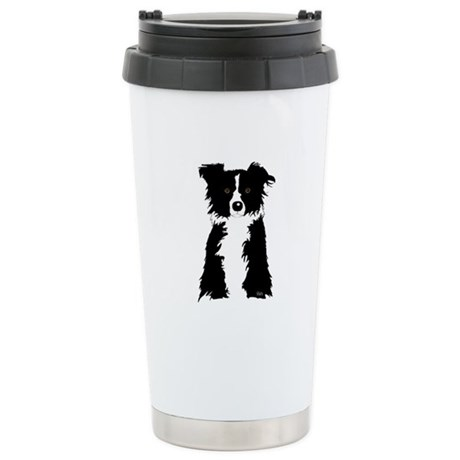 Border Collie Stainless Steel Travel Mug
