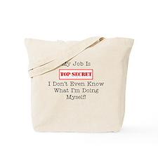 Top Secret Jobs Tote Bag