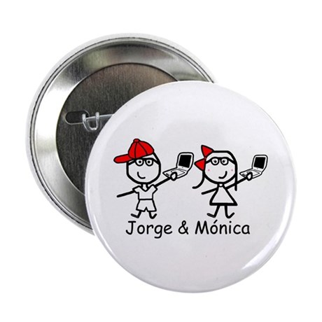 "Laptops - Jorge & Monica 2.25"" Button"