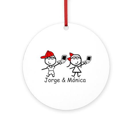 Laptops - Jorge & Monica Ornament (Round)