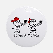 Laptops - Jorge & Monica Ornament (Round)