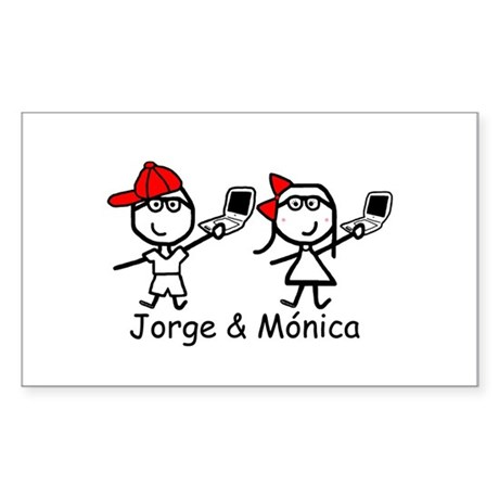 Laptops - Jorge & Monica Rectangle Sticker