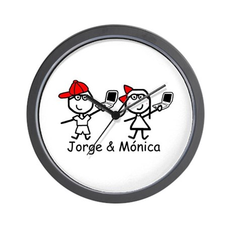 Laptops - Jorge & Monica Wall Clock