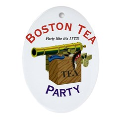 Boston Tea Party national Oval Ornament