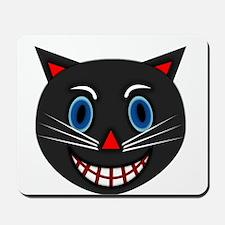 Vintage Black Cat Mousepad