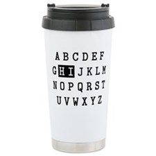 Alphabet Hi Travel Mug