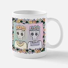 Day of the Dead Lesbian Wedding Mug