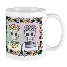 Day of the Dead Lesbian Wedding Small Mug