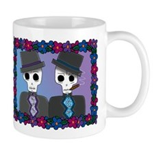 Day of the Dead Gay Wedding Mug
