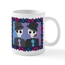 Day of the Dead Gay Wedding Small Mug