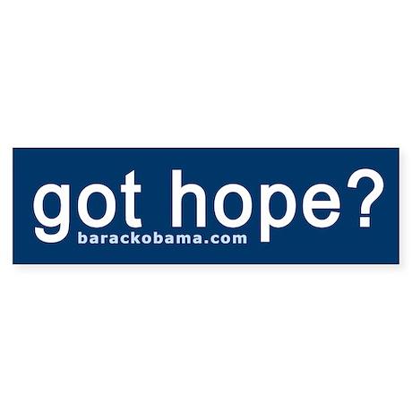 Got Hope? Bumper Sticker