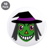 "Vintage Witch 3.5"" Button (10 pack)"